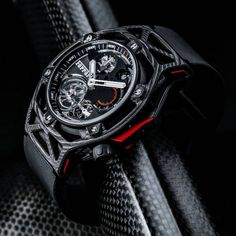 To celebrate Ferrari's 70th anniversary, the Italian marque and Hublot are presenting a new original collection. Conceived with the same approach used for designing a car and integrating Hublot's watchmaking expertise, the TECHFRAME Ferrari 70 years Tourbillon Chronograph opens a new chapter in the partnership that unites Hublot and Ferrari.