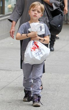 Pax, Shiloh and Knox Jolie-Pitt do some shopping at Lee's ...