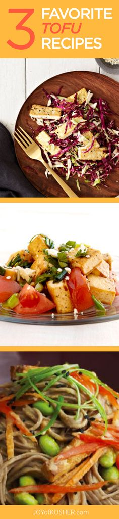 Tofu Favorites  - Make Vegetarian Meals exciting with these recipes.