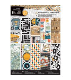 Papermania Mr. Mister Ultimate A4 Die - Cuts & Paper Pack