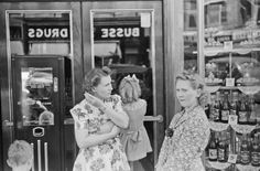 Vintage Photos of John Vachon includes this one take in Watertown WI of women shopping in downtown at Busse Drug store. Started in 1931, Busse Drug became affiliated with Aurora Health Care in 1999 and closed in 2012 as Walgreen's took over in town.
