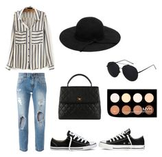 """hbdsj"" by dorina-meszaros on Polyvore featuring Dolce&Gabbana, Converse, Chanel and NYX"