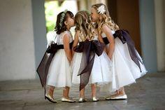 Event Planning: Amber Events - www.amberevents.com Photography: Carolyn Troadec - www.fotoimpact.net #flowergirls