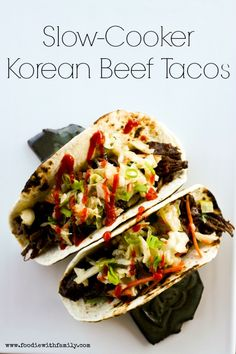 Slow-Cooker Korean Beef Tacos