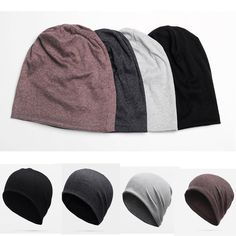 1bc65e5abdf42d Men Cotton Winter Slouch Skull Oversize Long Beanie Women Baggy Cap Ski Hat  Cool Brown Lipstick