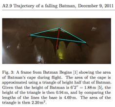 Physics Students Say A Gliding Batman Would Die Upon Landing - http://www.scoop.it/t/science-news/p/2139431903/physics-students-say-a-gliding-batman-would-die-upon-landing