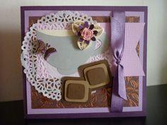 Pretty purple and brown card