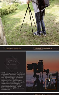 QZSD Q666 15KG Tripod With Q-02 360 Degree Swivel Fluid Head For DSLR Camera Sale - Banggood.com