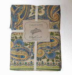 April Cornell Paisley Floral 100% Cotton Tablecloth NEW NWT 60 x 104 #AprilCornell #spring #tablecloth