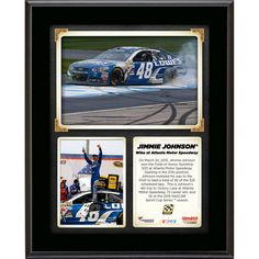 """Jimmie Johnson Fanatics Authentic 10.5"""" x 13"""" 2015 Folds of Honor QuikTrip 500 at Atlanta Motor Speedway Race Winner Sublimated Plaque Collage"""