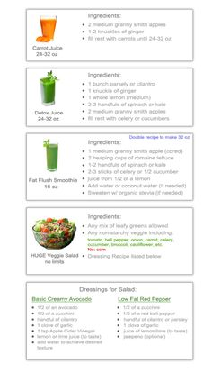 7 day cleanse recipes