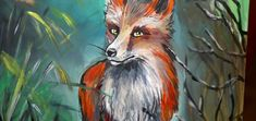 Video Tutorial of Painting a Fox in Acrylics on Canvas Acrylic Tutorials, Art Tutorials, Fox Painting, Painting & Drawing, Acrylics, Canvas, Drawings, Tips, Crafts