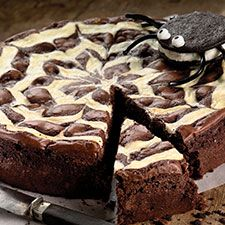 Spider Web Brownies for Halloween from King Arthur Flour.