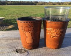 Handmade Leather Pint Coozie from East Hill Leather