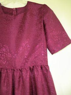 Plain Cape Dress Mennonite Solid Color Size Small by mennonitemom