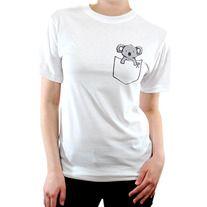 The Pocket Koala Shirt features a cute Koala popping out of a faux pocket! Printed on Jerzee brand Shirts for the KA Pouchbabies!.    Size Chart