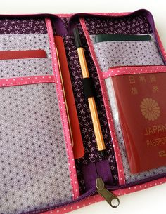 Carteira para passaporte Harumi