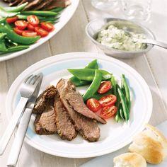 Barbecued butterflied lamb leg with herb mayonnaise | LambandBeef.com