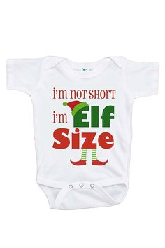 Custom Party Shop Baby's Funny Elf Size Christmas Onepiece