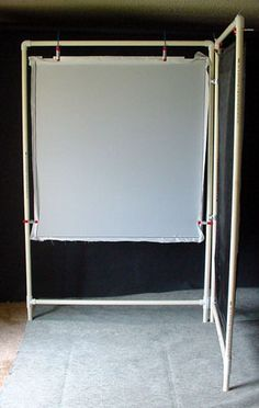 This may be my next photo booth. This way people can switch between white or black background.