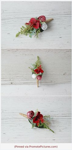 Dark Red Eucalyptus Flower Boutonniere Greenery Romantic Buttonhole Peony Grooms Woodland Rustic Wedding Accessories
