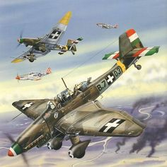 Hungarian Stukas vs US P-51s