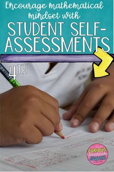 Its time to do away with worksheets when it is time for math assessment. Research on mathematical mindsets in elementary classrooms has revolutionized they way teachers present and assess math concepts!  Even assessment can include games and activities that rely on problem solving and using strategies!  These self-assessment tools for 4th grade are a guideline for teachers seeking to create math environments where all students feel successful! #mathematicalmindsets #teachingmath #elementarymath