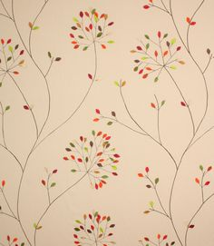 Odora fabric is a designer clearance fabric from Voyage Decoration Lorient. This curtain fabric has beautiful hand sewn coloured leaves embroidered onto a neutral coloured backing cloth for a really unique curtain fabric. Buy this curtain fabric online today!