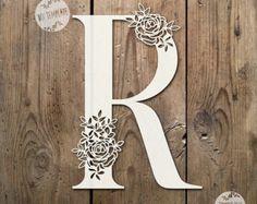 SALE Floral Letter 'R' SVG Pdf Design - Papercutting Vinyl Template Commercial Use - Papercut - nursery papercut - new baby papercut Kirigami, Paper Cutting, Diy And Crafts, Paper Crafts, Floral Letters, Monogram Letters, Paper Lace, Letter Art, Lettering Design