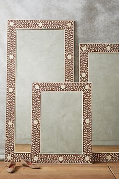 gorgeous bone inlay mirrors #anthroregistry  http://rstyle.me/n/rdr2spdpe