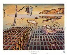 Salvador Dali - Het uiteen vallen van de duurzaamheid der herinnering.  Tijd is een rivier, een niet te stuiten stroming van al het geschapene. Het ene is niet eerder zichtbaar dan op het moment dat het snel voorbij wordt gesleurd en het andere komt eraan drijven om op zijn beurt weer te worden weggeveegd.