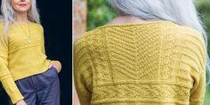 Вязание спицами для женщин пуловера с удлиненной спинкой