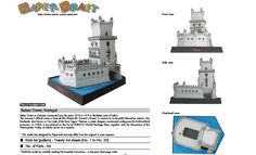 Belem Tower, Portugal. Free template and downloads. http://speckyboy.com/2011/04/08/40-amazing-papercraft-templates-for-the-geek-inside-you/