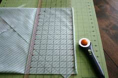 Tutorial for making binding with striped fabric