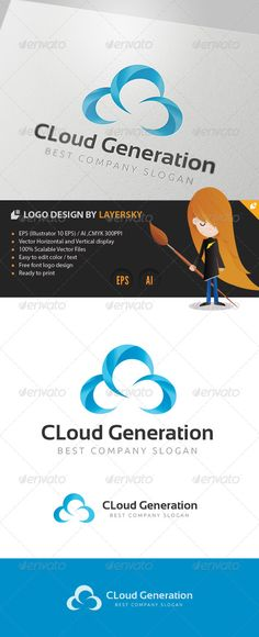 Cloud Generation Logo  #GraphicRiver        Cloud Generation – Logo Template  	 This logo design for creative company.  Logo Template Features   AI and EPS 300PPI  CMYK  100% Scalable Vector Files  Easy to edit color / text  Ready to print  Used Free Font (Link Included Main Download) My Logo Templates Designs     	 If you buy and like this logo, please remember to rate it. Thanks!     Created: 14March13 GraphicsFilesIncluded: VectorEPS #AIIllustrator Layered: No MinimumAdobeCSVersion: CS4…