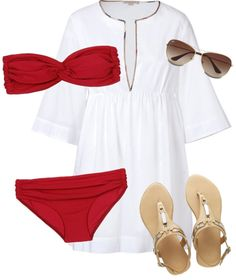 """""""Beach day"""" by courtneylovesfashion ❤ liked on Polyvore"""