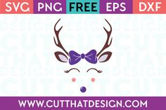 Cut That Design provides a large selection of Free SVG Files for Silhouette, Cricut and other cutting machines. Available in SVG, DXF, EPS and PNG Formats. Christmas Deer, Christmas Shirts, Reindeer Antlers, Free Christmas Printables, Family Shirts, Svg File, Silhouette Cameo, Cricut, Bows