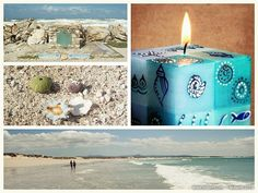 hand-painted candles #nobunto #handpainted #handcrafted #candles #decorations #SouthAfrica #FairTrade #ocean #fish #sea
