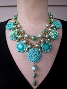 Pearl Necklace with Flower Charms made by carmen delacruz from LC.Pandahall.com
