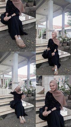 Casual Hijab Outfit, Ootd Hijab, Girl Hijab, Muslim Fashion, K Fashion, Fashion Outfits, Wedding Hijab Styles, Hijab Fashion Inspiration, Foto Instagram