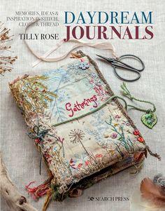 Fabric Journals, Journal Paper, Junk Journal, Art Journals, Handmade Journals, Handmade Books, Vintage Journals, Hand Embroidery, Machine Embroidery