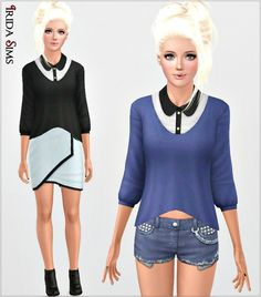 Sweater with a shirt I-S by Irida - Sims 3 Downloads CC Caboodle