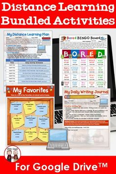 Online learning is difficult to learn for educators. We have created an intermediate Distance Learning bundle that has many resources for your students. Upper Elementary Resources, School Resources, Learning Resources, Student Learning, Teacher Resources, Teaching Ideas, Learning Tools, Middle School Grades, Genius Hour