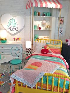 Oh Joy! References for Candy display in Jars. Look closely at the inset bookcase. Candy Themed Bedroom, Bedroom Themes, Girls Bedroom, Bedroom Decor, Bedroom Ideas, Candy Room, Kids Room Design, Little Girl Rooms, Baby Room Decor