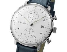 "JUNGHANS X Bench & Loom    Germany's Junghans works a special configuration for their Chronoscope automatic forBench & Loom. The chronoscope ""is named for its famous designer, the Bauhaus-educated Swissman Max Bill who was renowned for his perfection of proportions."" Its a big one at 43mm on the stainless steel casing. Well done."