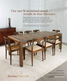 Reclaimed wood, Design by Madeira Furniture, Los Angeles, www.madeirafurniture.net
