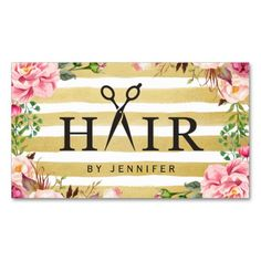 Creative Hair Scissor Typography Salon Appointment Double-Sided Standard Business Cards (Pack Of 100)