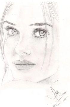 Pencil Portrait Drawing, Realistic Pencil Drawings, Portrait Sketches, Pencil Art Drawings, Art Drawings Sketches, Cool Drawings, Painting & Drawing, Gif Kunst, Celebrity Drawings