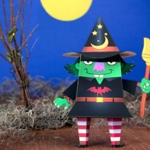 Witch Paper Craft Character for Halloween
