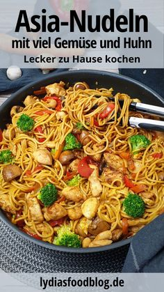 Easy Pasta Recipes, Chicken Recipes, Dinner Recipes, Easy Meals, Healthy Recipes, Hills Science Diet, Asian Kitchen, Asian Noodles, Asian Cooking